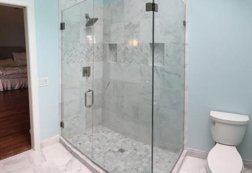 Shoreline bathroom remodel shower
