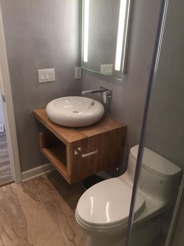 Shoreline bathroom remodel sink