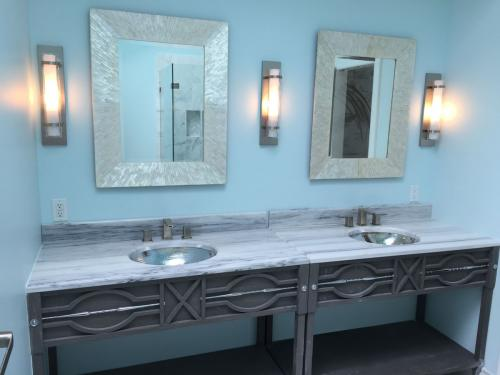 Shoreline bathroom remodel vanity