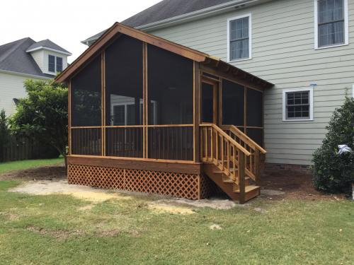 Shoreline porch addition